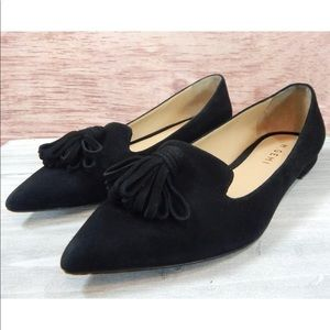 M. Gemi Black Suede Flats Pointed Toe - 36.5 / 6.5